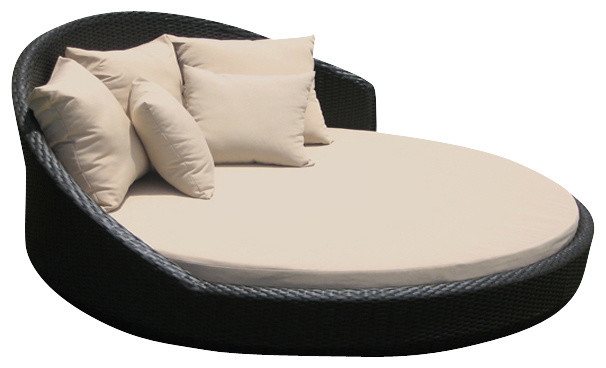Superbe Outdoor Wicker Lounge All Weather Round Double Bed