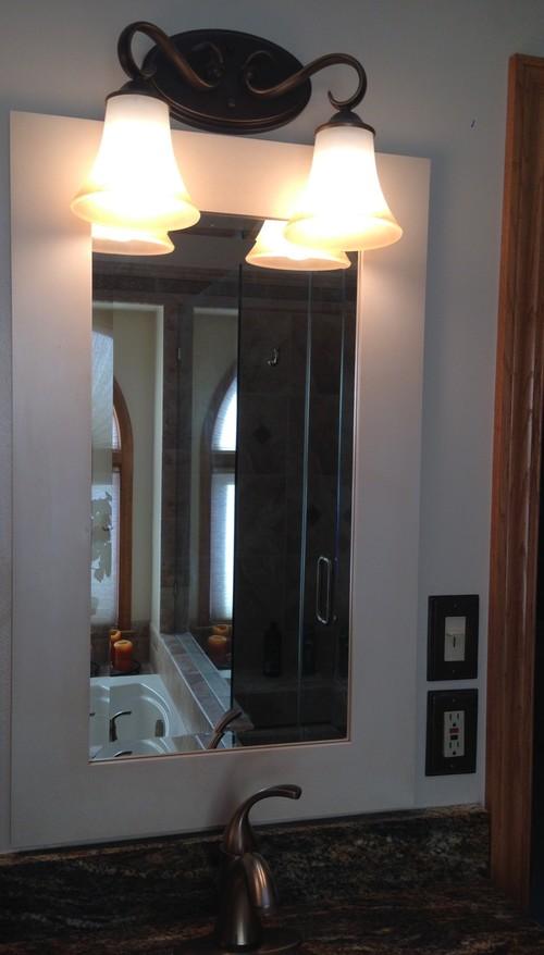 Vanity Light Box Height : Vanity mirror size