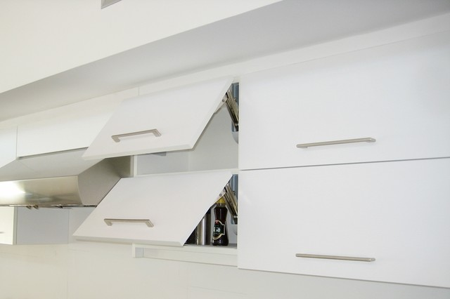 Kitchen Vertical Lifting Cabinet Doors - Modern - Los Angeles - by Cedar Hill Cabinets