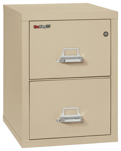 Fireking Fireproof Vertical File Cabinet 2 Legal Sized Drawers