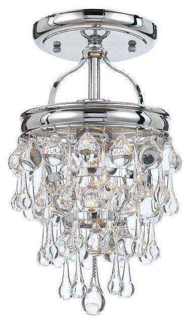 Crystorama Lighting 131-Ch_ceiling Calypso Semi Flush Mount Ceiling Light.