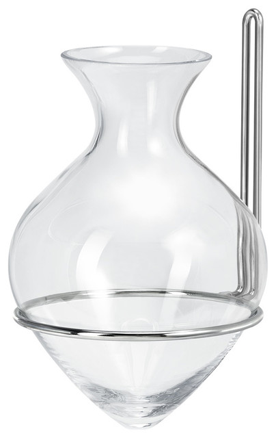 """Couronne Co. 9"""" St. Lucia Amphora Vase with Chrome Nickel Hanger"""