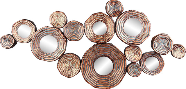 Contemporary Metal Wall Art circle cluster gold wall decor - contemporary - metal wall art