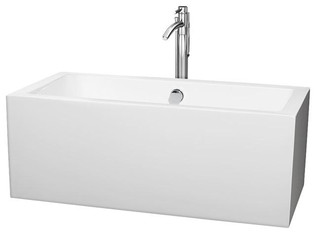 59.5 In. Soaking Bathtub In White.