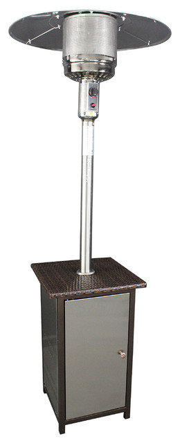 Ss Patio Heater Lp With Wicker Stand.