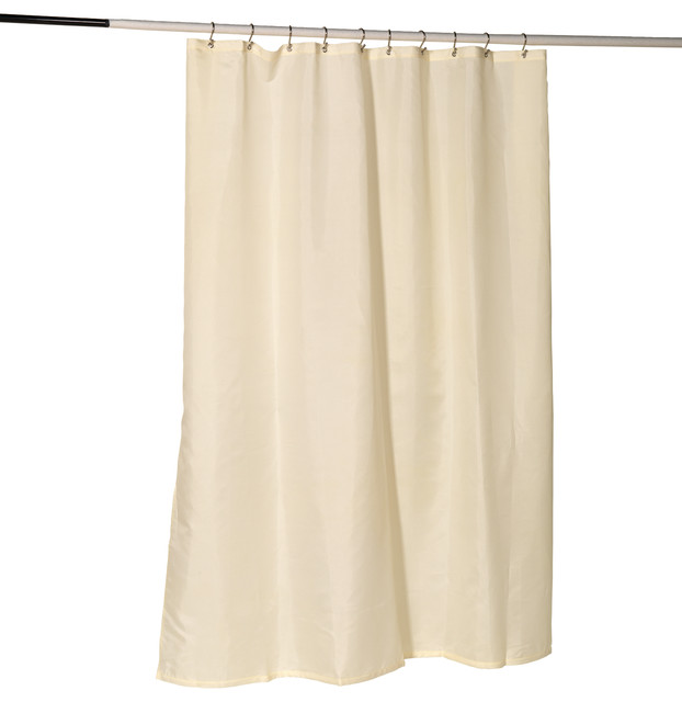 Nylon Fabric Shower Curtain Liner W Reinforced Header And