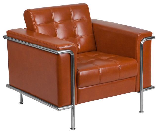 Flash Furniture Hercules Lesley Series Contemporary Cognac Leather Chair.