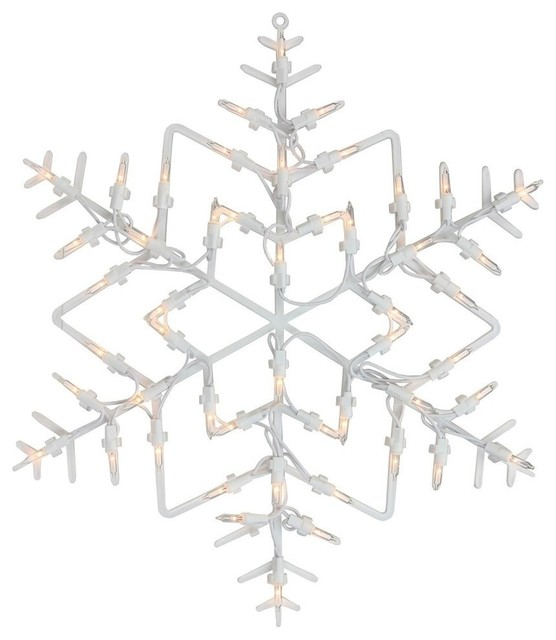 135 lighted snowflake christmas window silhouette decoration