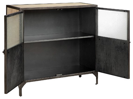 Madison Park Cirque Metal And Wood Cabinet, Natural