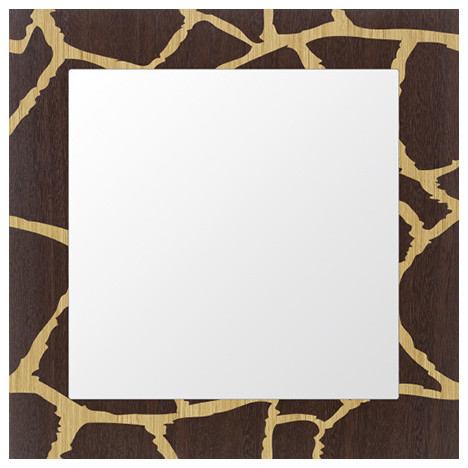 Giraffe Inlay Wood Framed Mirror - Eclectic - Wall Mirrors - by ...