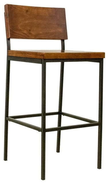 Miraculous Counter Stool In Distressed Java Finish Pdpeps Interior Chair Design Pdpepsorg