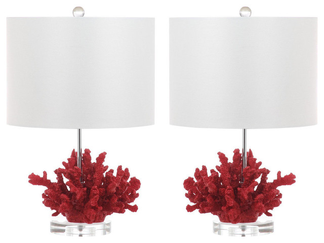 Safavieh Faux Coral Reef Table Lamp, Set Of 2.