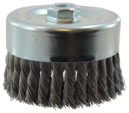6x5/8-11, 0.020 Gauge Knotted Wire Cup Brush.
