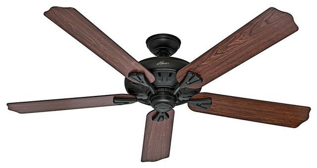 Hunter Fan Co. The Royal Oak Ceiling Fan With Remote.