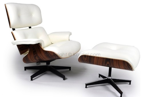 Amazing Will The Eames Style Lounge Chair And Ottoman Work? If So, White Or Dark  Brown Leather? Since I Have Two Club Chairs, I Donu0027t Know About Adding  Another.