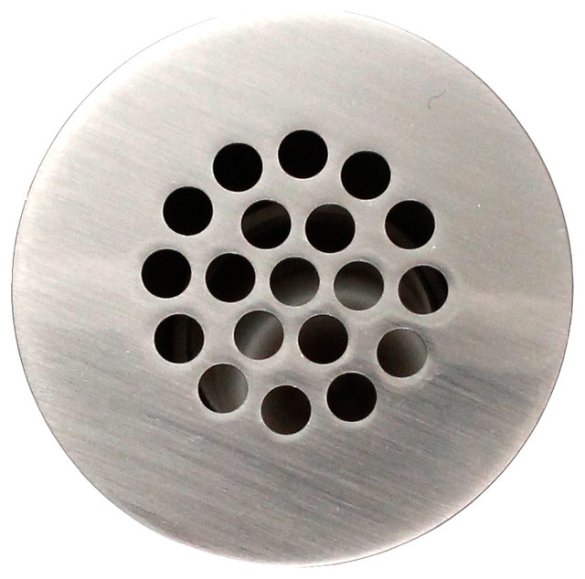 Universal Open Grid Bathroom Sink Drain Without Overflow Chrome