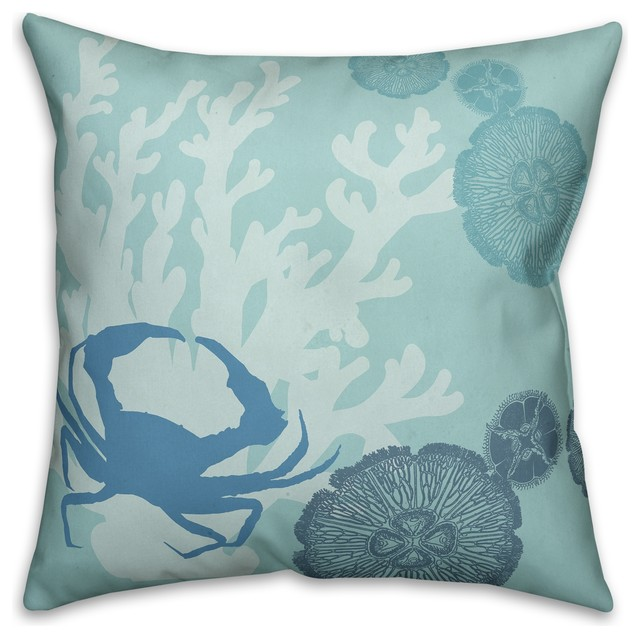 Beach Style Decorative Pillows : Designs Direct Creative Group Coastal Sentiments 18x18 Faux Suede Throw Pillow - Decorative ...