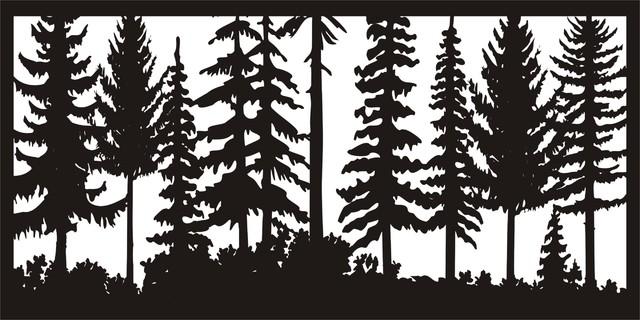 "Just Trees Panel, 24""x48""."