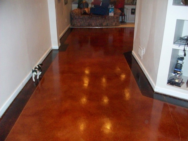 cement flooring stained concrete flooring traditional basement st louis by