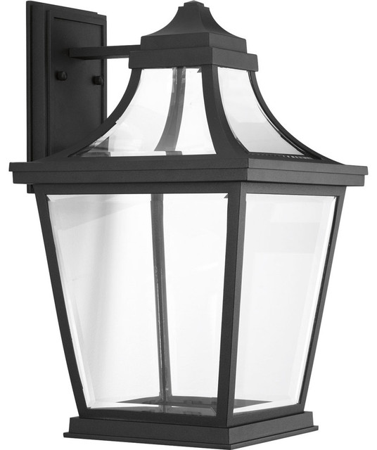 Progress Lighting P6058 3130k9 Endorse Black Large Outdoor Led Wall Sconce Transitional Outdoor
