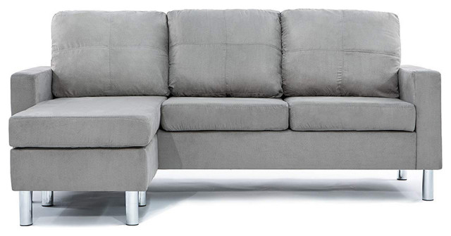 Reversible Small Microfiber Sectional