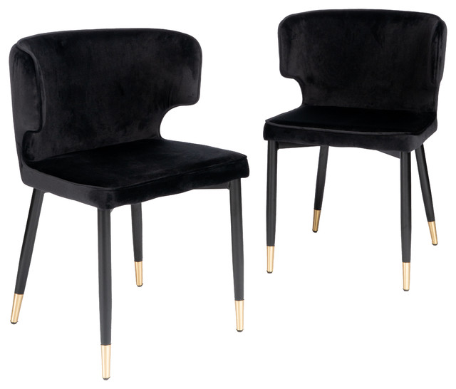 Kayla Upholstered Dining Chair Set Of 2 Midcentury Dining Chairs By Statements By J