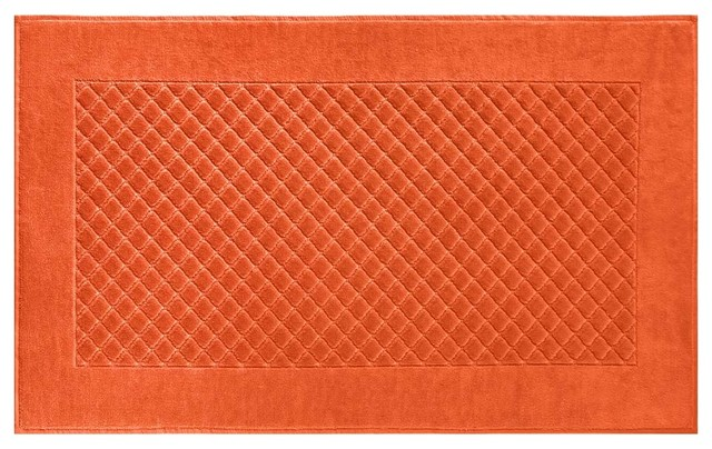 etoile towels orange bath mat traditional bath mats