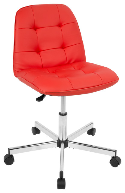Cora Contemporary Task Office Chair, Red.