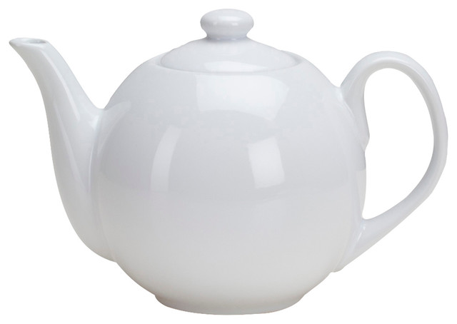 Teapot With Infuser 40oz White