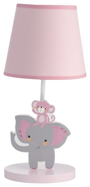 Shadeamp; Toes By Bedtime Lamp With OriginalsPink Gray And Bulb Twinkle wNm08n
