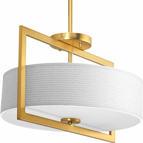 Progress Lighting Harmony Semi-Flush Ceiling Fixture With 3 Lights - 15 Wide.