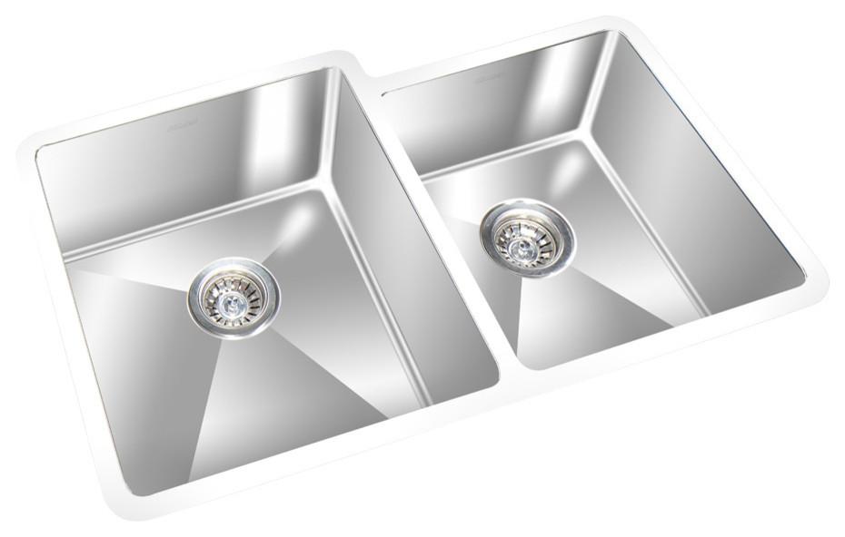 Gemini Undermount Kitchen Sink, Stainless Steel Sink 31.5\