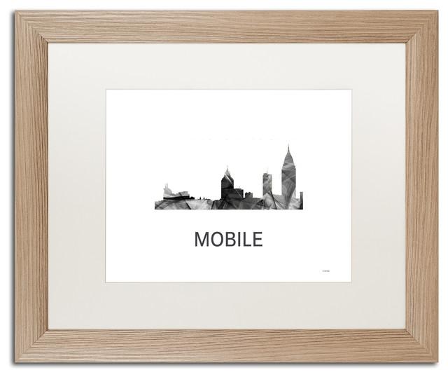 Marlene Watson \'Mobile Alabama Skyline\' Matted Framed Art ...
