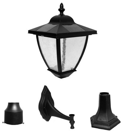 "16"" Bayport Solar Lamp With 3 Mounting Options With Natural White LED"