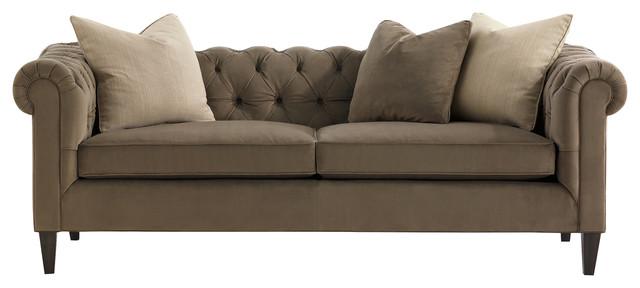 Benjamin Industrial Tufted Linen Sofa