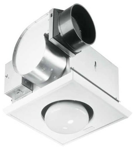 Bathroom 70 Cfm Exhaust Fan With Heat Lamp And Light, Un 9417-Dn.
