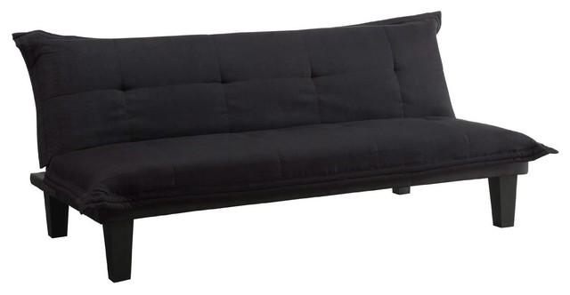 Sensational Black Microfiber Click Clack Sleeper Sofa Bed Futon Lounger Evergreenethics Interior Chair Design Evergreenethicsorg