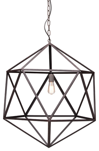 Chandelier Metal: Amethyst Large Metal Angular Chandelier contemporary-pendant-lighting,Lighting