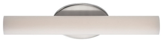 """Modern Forms Loft LED Bath and Wall Light, Brushed Nickel, 18"""""""