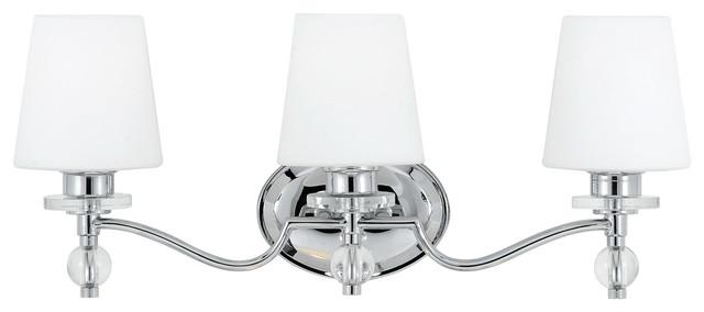 Quoizel Hollister Bath Light, Polished Chrome.