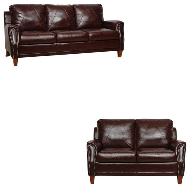 Groovy Austin Sienna Italian Leather Living Room Set 2 Piece Set Home Interior And Landscaping Thycampuscom