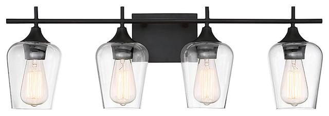Octave 2-Light Vanity Fixture, English Bronze, 4-Light