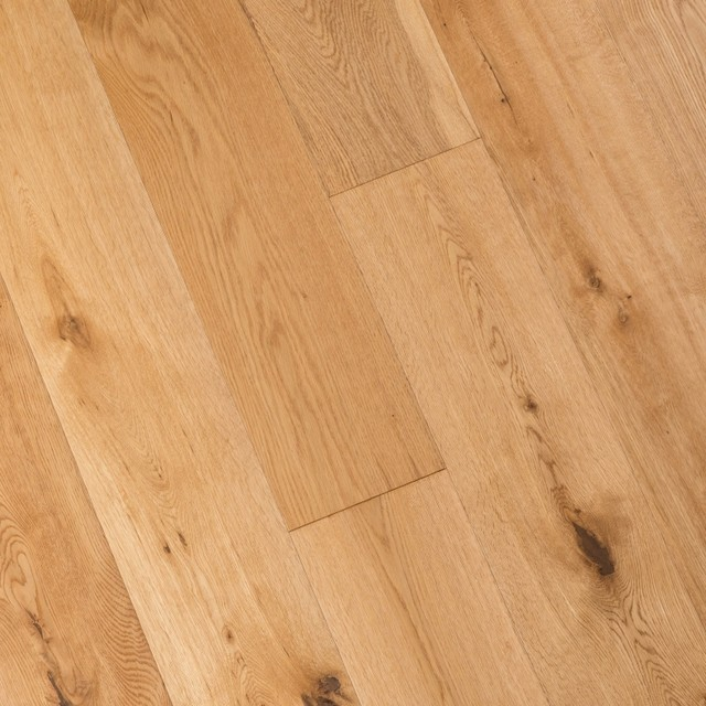 French Oak Prefinished Engineered Wood Floor Natural Wide Plank