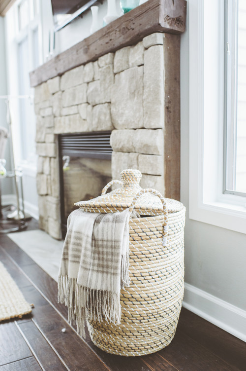 Throw Blanket Storage #3 - Love The Great Basket For Throw Blankets! Where Did It Come From?