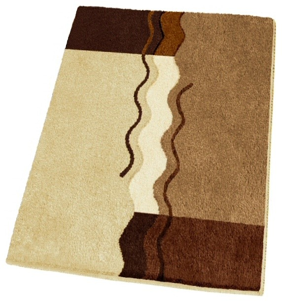 Non Slip Small Modern Brown Bath Rug