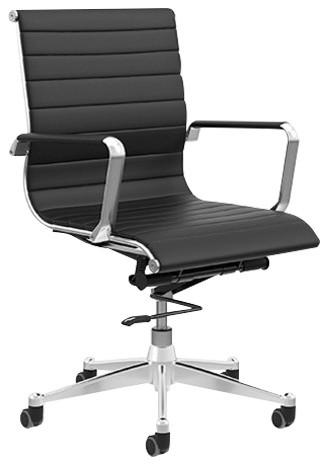 Kimball Alumma Mid Back Chair, Black Contemporary Office Chairs