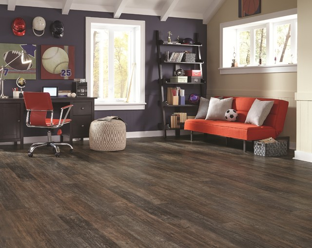Adura® Iron Hill Luxury Vinyl Plank Flooring Transitional Family Room