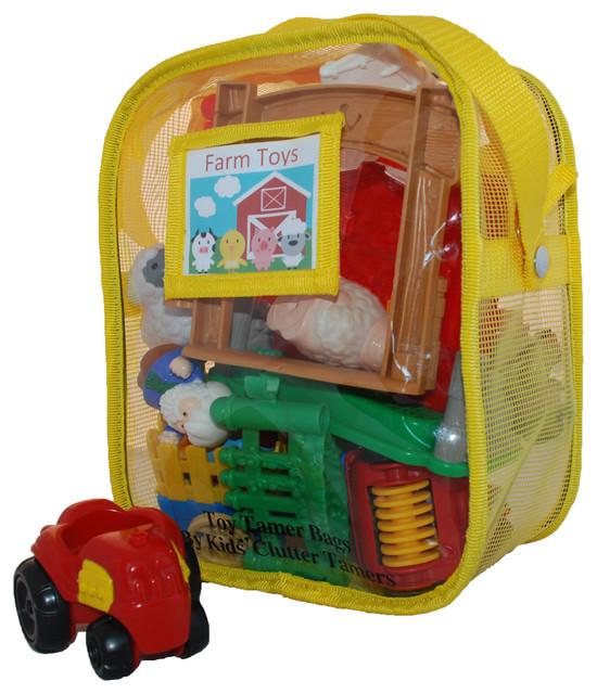 Toy Tamer Bags, Set of 2, Yellow, Medium