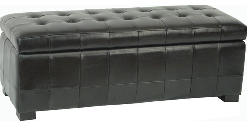 Large Manhattan Storage Bench, Black