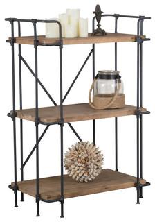 Denise Austin Home Brooklyn 3 Shelf Bookcase Industrial